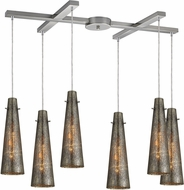 ELK 10247-6 Rury Contemporary Satin Nickel Multi Ceiling Light Pendant