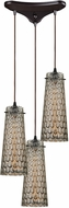ELK 10248-3 Jerard Modern Oil Rubbed Bronze Multi Drop Lighting Fixture