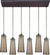 ELK 10248-6RC Jerard Contemporary Oil Rubbed Bronze Multi Lighting Pendant