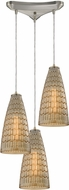 ELK 10249-3 Mickley Contemporary Satin Nickel Multi Hanging Lamp