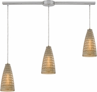 ELK 10249-3L Mickley Modern Satin Nickel Multi Hanging Light