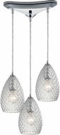 ELK 10253-3CL Geval Modern Polished Chrome Multi Hanging Light Fixture