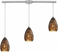 ELK 10253-3L-BC Geval Contemporary Satin Nickel Multi Drop Lighting