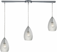 ELK 10253-3L-CL Geval Modern Polished Chrome Multi Drop Ceiling Lighting