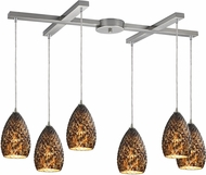 ELK 10253-6BC Geval Contemporary Satin Nickel Multi Ceiling Light Pendant