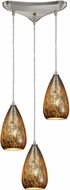 ELK 10254-3 Karma Contemporary Satin Nickel Multi Pendant Lighting
