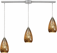ELK 10254-3L Karma Modern Satin Nickel Multi Pendant Light