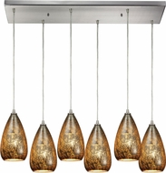 ELK 10254-6RC Karma Modern Satin Nickel Multi Pendant Lamp