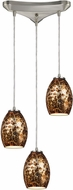 ELK 10255-3 Venture Modern Satin Nickel Multi Hanging Light