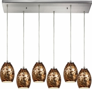 ELK 10255-6RC Venture Contemporary Satin Nickel Multi Hanging Pendant Lighting