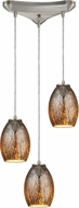 ELK 10256-3 Venture Contemporary Satin Nickel Multi Pendant Hanging Light