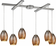 ELK 10256-6 Venture Contemporary Satin Nickel Multi Drop Lighting