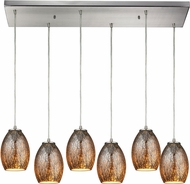 ELK 10256-6RC Venture Modern Satin Nickel Multi Drop Ceiling Lighting