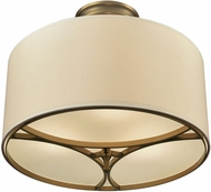 ELK 10262-3 Pembroke Brushed Antique Brass Ceiling Lighting