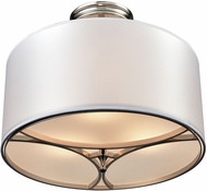 ELK 10263-3 Pembroke Polished Nickel Ceiling Light
