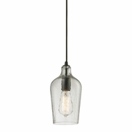 ELK 10331-1CLR Hammered Glass Modern Oil Rubbed Bronze Mini Pendant Lighting