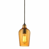 ELK 10331-1HAMB Hammered Glass Contemporary Oil Rubbed Bronze Mini Pendant Light