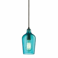 ELK 10331-1HAQ Hammered Glass Modern Oil Rubbed Bronze Mini Lighting Pendant