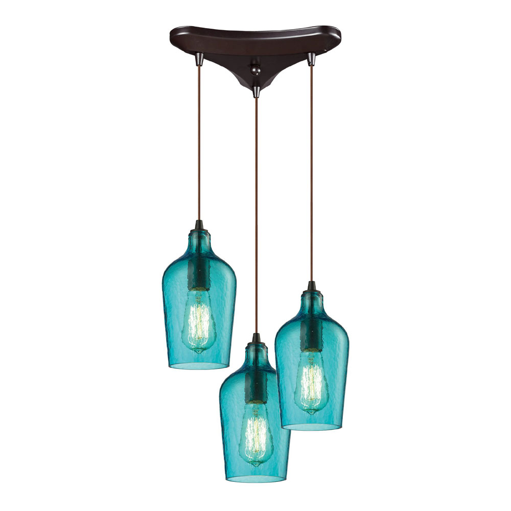 multi pendant lighting fixtures. elk 103313haq hammered glass modern oil rubbed bronze multi pendant light fixture loading zoom lighting fixtures m