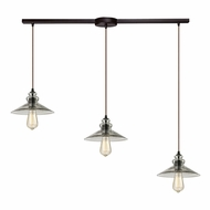 ELK 10332-3L Hammered Glass Modern Oil Rubbed Bronze Multi Hanging Lamp