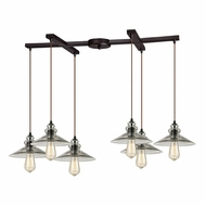 ELK 10332-6 Hammered Glass Contemporary Oil Rubbed Bronze Multi Hanging Light