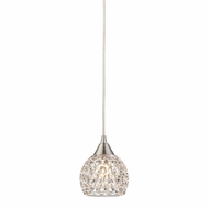 ELK 10341-1 Kersey Satin Nickel Halogen Mini Pendant Light Fixture