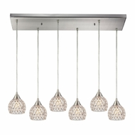 ELK 10341-6RC Kersey Satin Nickel Halogen Multi Pendant Hanging Light