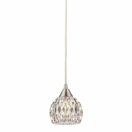 ELK 10342-1 Kersey Satin Nickel Halogen Mini Hanging Light Fixture