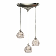 ELK 10342-3 Kersey Satin Nickel Halogen Multi Drop Lighting