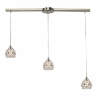 ELK 10342-3L Kersey Satin Nickel Halogen Multi Drop Ceiling Lighting