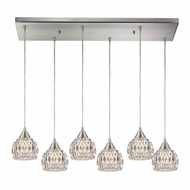 ELK 10342-6RC Kersey Satin Nickel Halogen Multi Ceiling Pendant Light