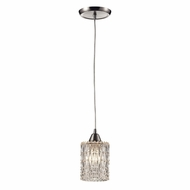 ELK 10343-1 Kersey Satin Nickel Mini Drop Ceiling Light Fixture