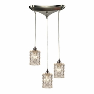 ELK 10343-3 Kersey Satin Nickel Multi Drop Lighting Fixture