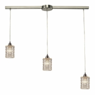 ELK 10343-3L Kersey Satin Nickel Multi Pendant Lighting