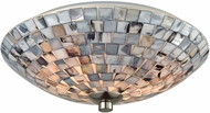 ELK 10401-2 Cappa Shells Modern Satin Nickel Ceiling Light Fixture