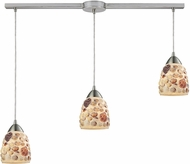 ELK 10412-3L Shells Modern Satin Nickel Multi Drop Ceiling Light Fixture
