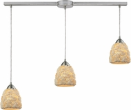 ELK 10414-3L Shells Modern Satin Nickel Multi Hanging Lamp