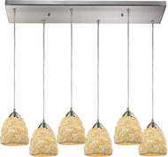 ELK 10414-6RC Shells Modern Satin Nickel Multi Pendant Light Fixture