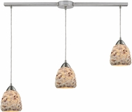 ELK 10415-3L Shells Contemporary Satin Nickel Multi Hanging Pendant Light