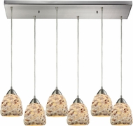ELK 10415-6RC Shells Contemporary Satin Nickel Multi Hanging Light Fixture