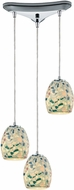 ELK 10419-3 Shells Contemporary Satin Nickel Multi Ceiling Light Pendant