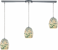 ELK 10419-3L Shells Modern Satin Nickel Multi Ceiling Pendant Light