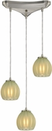ELK 10421-3JD Melony Contemporary Satin Nickel Halogen Multi Lighting Pendant