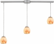 ELK 10421-3L-TS Melony Contemporary Satin Nickel Halogen Multi Hanging Lamp