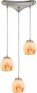 ELK 10421-3TS Melony Modern Satin Nickel Halogen Multi Hanging Light