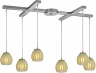 ELK 10421-6JD Melony Contemporary Satin Nickel Halogen Multi Pendant Light Fixture