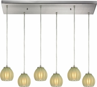 ELK 10421-6RC-JD Melony Modern Satin Nickel Halogen Multi Pendant Lighting Fixture