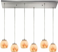 ELK 10421-6RC-TS Melony Contemporary Satin Nickel Halogen Multi Hanging Pendant Lighting