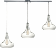 ELK 10422-3L Orbital Contemporary Polished Chrome Multi Drop Lighting