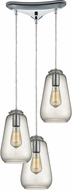 ELK 10423-3 Orbital Modern Polished Chrome Multi Ceiling Pendant Light